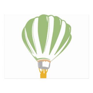 De digitale illustratie van de hete luchtballon wens kaarten