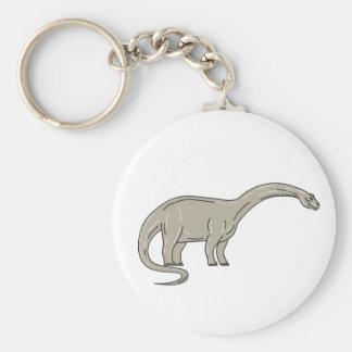 De Dinosaurus die van Brontosaurus onderaan Sleutelhanger