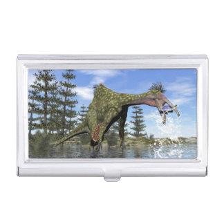 De dinosaurus die van Deinocheirus 3D vissen - Visitekaarthouder