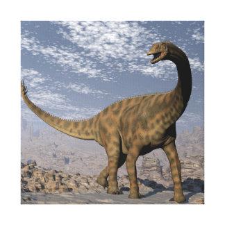 De dinosaurus die van Spinophorosaurus in de Canvas Afdruk
