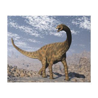 De dinosaurus die van Spinophorosaurus in de Canvas Print