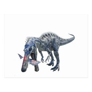De Dinosaurus die van Suchomimus een Haai eten Briefkaart