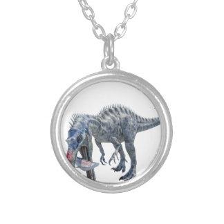 De Dinosaurus die van Suchomimus een Haai eten Zilver Vergulden Ketting