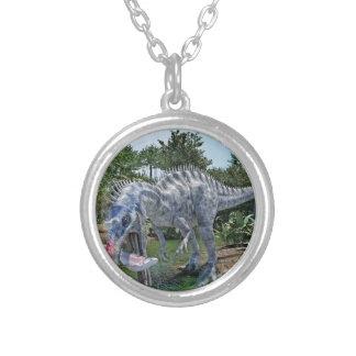 De Dinosaurus die van Suchomimus een Haai in een Zilver Vergulden Ketting
