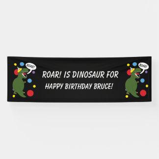 De Dinosaurus t-Rex personaliseert de Kinder Spandoek