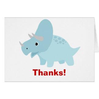 De Dinosaurus Triceratops van het baby dankt u Kaart