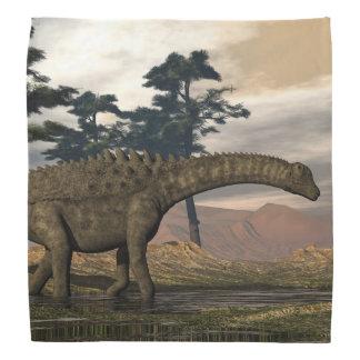 De dinosaurus van Ampelosaurus Bandana