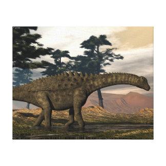 De dinosaurus van Ampelosaurus Canvas Afdruk