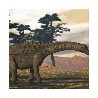 De dinosaurus van Ampelosaurus Canvas Print