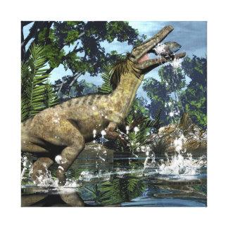 De dinosaurus van Austroraptor Canvas Afdruk