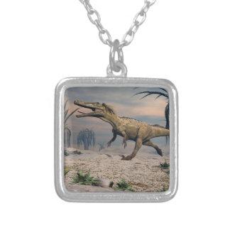 De dinosaurus van Austroraptor Zilver Vergulden Ketting
