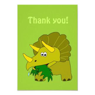 De Dinosaurus van de Cartoon van Triceratops dankt Kaart