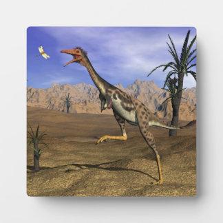De dinosaurus van Mononykus 3D jacht - geef terug Fotoplaat
