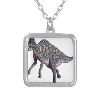 De Dinosaurus van Saurolophus Zilver Vergulden Ketting
