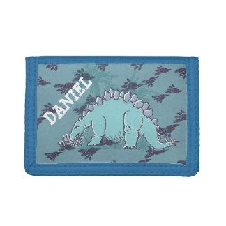 De dinosaurus van Stegosaurus uw naam blauwe