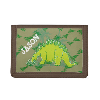 De dinosaurus van Stegosaurus uw naam groene