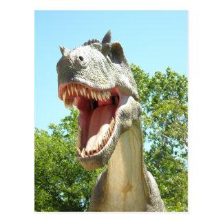 De Dinosaurus van t-Rex van tyrannosaurussen Briefkaart