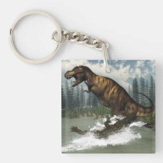De dinosaurus van tyrannosaurussen rex die door sleutelhanger