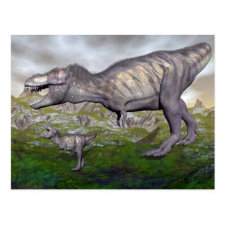 De dinosaurus van tyrannosaurussen rex mum en 3D Briefkaart