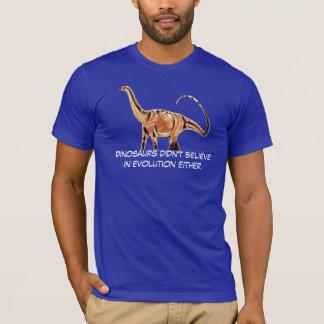 """De """"dinosaurussen geloofden niet in Evolutie ook T Shirt"""