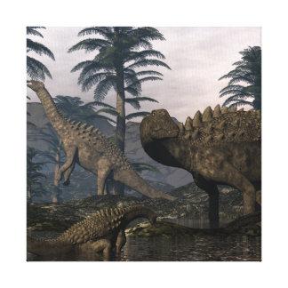 De dinosaurussen van Ampelosaurus Canvas Print