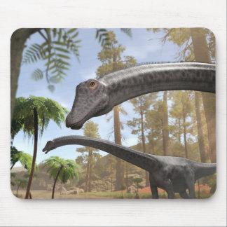 De Dinosaurussen van Diplodocus in een Muismat