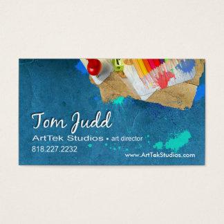 De Directeur van de kunst: Schilder van de Visitekaartjes