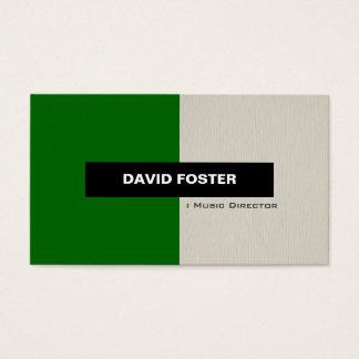 De Directeur van de muziek - Eenvoudige Elegante Visitekaartjes