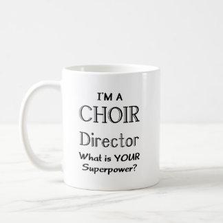 De directeur van het koor koffiemok