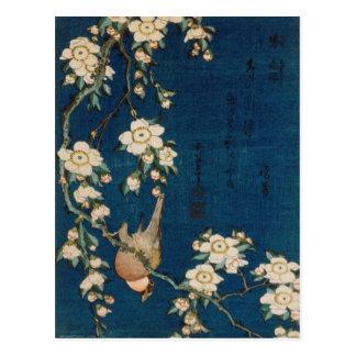 De Distelvink van Hokusai van Katsushika 葛飾北斎 en Briefkaart