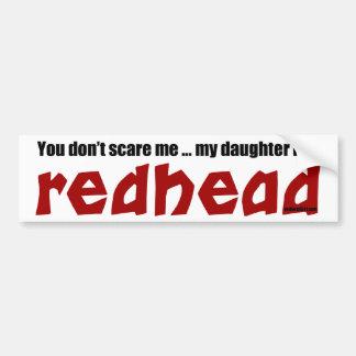De dochter is een Roodharige Bumpersticker