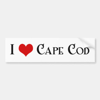 De doctorandus in de letteren van Cape Cod Bumpersticker