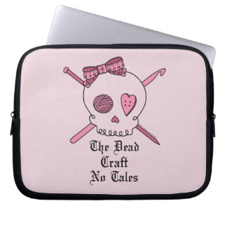 De dode Ambacht Geen Verhalen (Roze Achtergrond) Laptop Sleeve