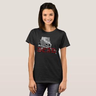 De DODE T-shirt van de Gothic van de Schedel van