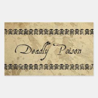 De dodelijke Stickers van het Vergift rechthoek