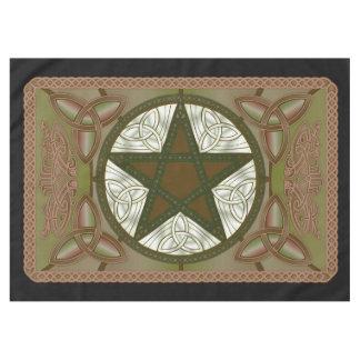 De Doek van het altaar met Groene Pentagram & Tafelkleed