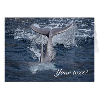 De dolfijn dankt u kaardt kaart