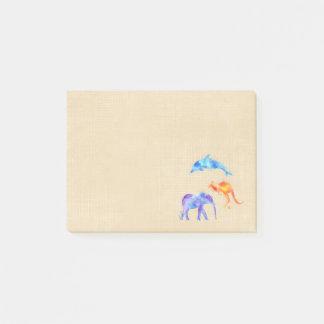 De Dolfijn, de Olifant en de Kangoeroe van de Post-it® Notes