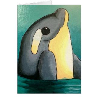 De Dolfijn Notecard van Dina Notitiekaart
