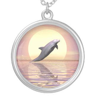 De Dolfijn van de zon Ketting Rond Hangertje