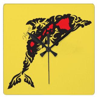 De Dolfijn van Hawaï Vierkante Klok