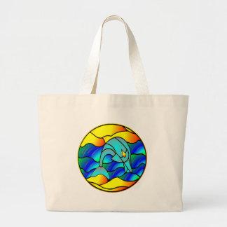 De Dolfijn van het Type van gebrandschilderd glas Grote Draagtas