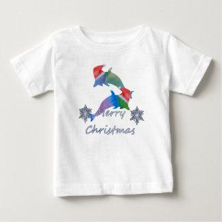 De Dolfijnen van Kerstmis Baby T Shirts