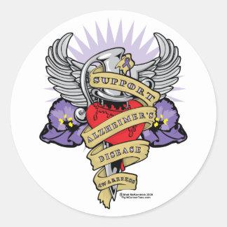 De Dolk van Alzheimer Ronde Sticker