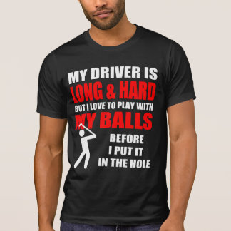 De dolkomische Slogan van het Golf T Shirt