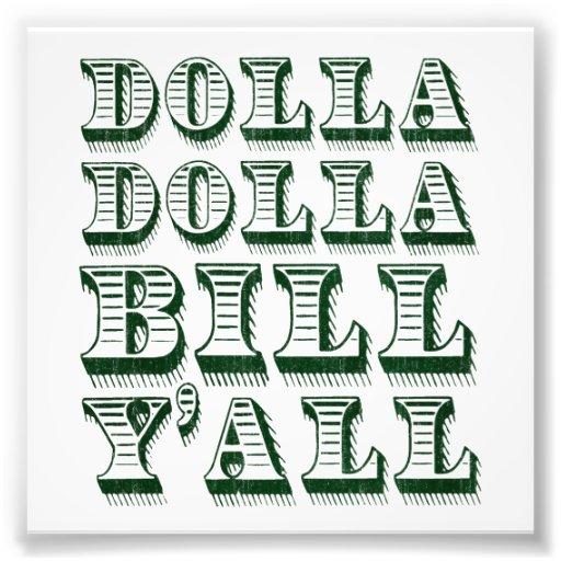 De Dollars van het Geld van het Contante geld van  Foto Print