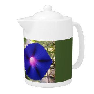De donkerblauwe Pot van de Thee van de Glorie van
