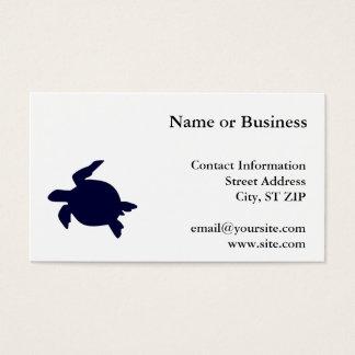 De donkerblauwe Schildpad van het Zee Visitekaartjes