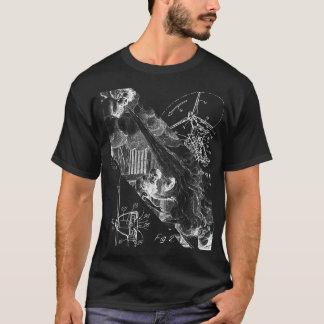 De Donkere Basis Door de wind aangedreven T-shirt