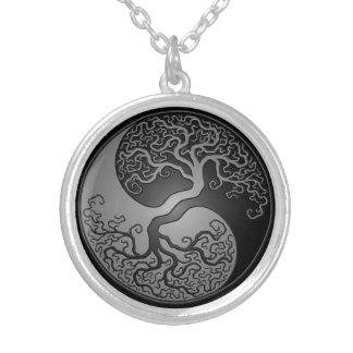 De donkere Boom van Yin Yang Zilver Vergulden Ketting